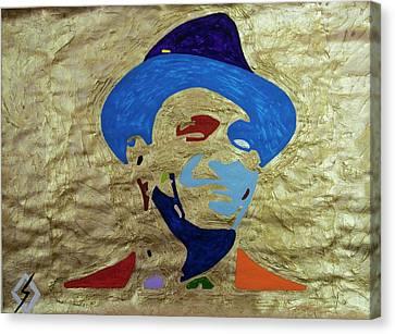 Smiling Sinatra Gold  Canvas Print by Stormm Bradshaw