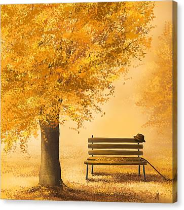 Gold Memories Canvas Print by Veronica Minozzi