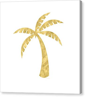 Gold Palm Tree- Art By Linda Woods Canvas Print by Linda Woods