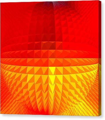 Gold-red Globe Canvas Print by Ramon Labusch