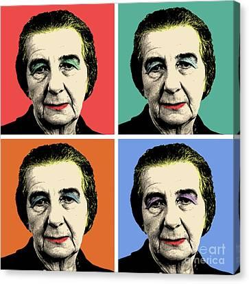 Golda Meir Canvas Print by Mark Ashkenazi