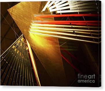 Golden Abstract Canvas Print by Kelly Holm