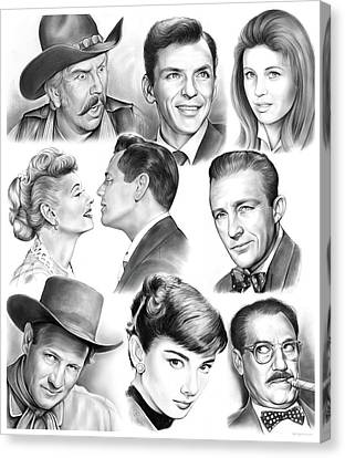 Golden Age Montage Canvas Print by Greg Joens