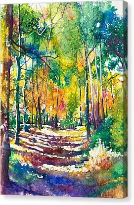 Golden Autumn Canvas Print by Patricia Allingham Carlson
