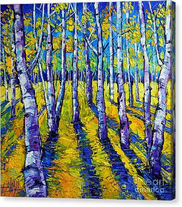 Golden Autumn Symphony Canvas Print by Mona Edulesco