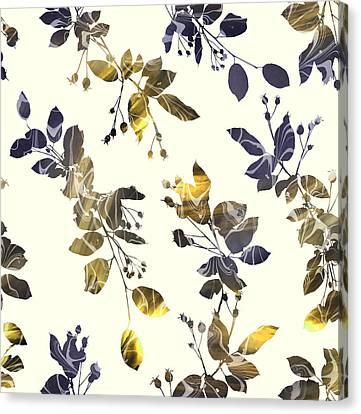 Golden Branches Canvas Print by Varpu Kronholm