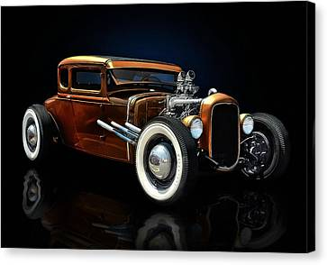 Golden Brown Hot Rod Canvas Print by Rat Rod Studios