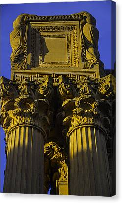 Golden Columns Palace Of Fine Arts Canvas Print by Garry Gay