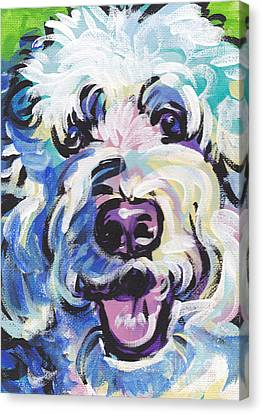 Doodle Art Canvas Print featuring the painting Golden Doodly Dee by Lea S