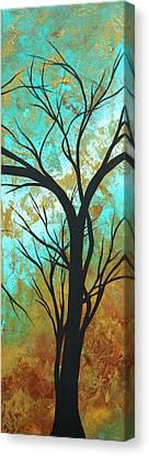 Golden Fascination 4 Canvas Print by Megan Duncanson