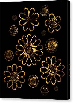 Golden Flowers Canvas Print by Frank Tschakert