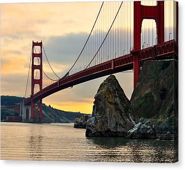 Golden Gate Bridge At Sunset Canvas Print by Pamela Rose Hawken