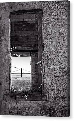 Golden Gate Bridge From Alcatraz Canvas Print by Mike Burgquist