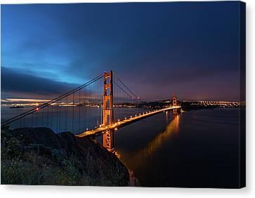 Golden Gate Bridge Canvas Print by Larry Marshall