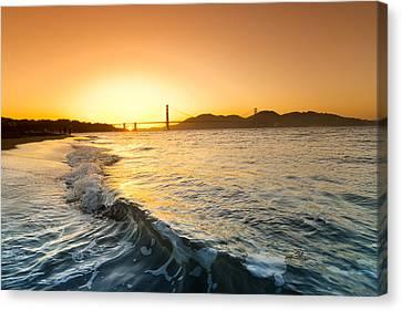 Golden Gate Curl Canvas Print by Sean Davey