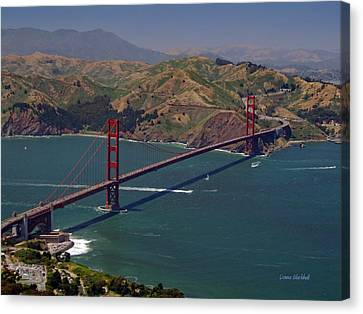 Golden Gate Canvas Print by Donna Blackhall
