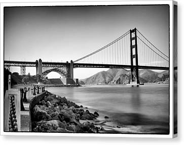 Golden Gate From Fort Point Canvas Print by Tanya Harrison