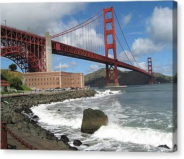 Golden Gate Canvas Print by Kim Pascu