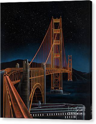 Golden Gate Canvas Print by Lynette Cook