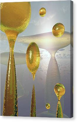 Golden Globs Canvas Print by Richard Rizzo