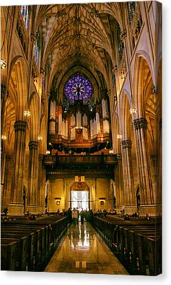 Golden Glow Of St.patrick's Cathedral Canvas Print by Jessica Jenney