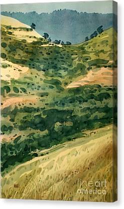 Golden Hills Canvas Print by Donald Maier
