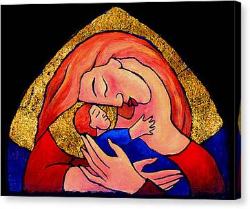 Golden Mama Canvas Print by Angela Treat Lyon