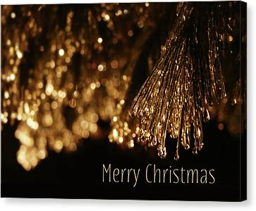 Golden Merry Christmas Canvas Print by Lori Deiter