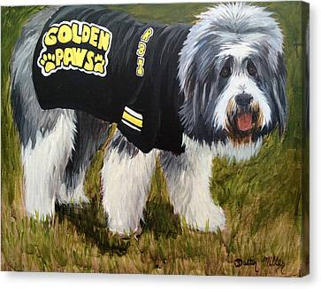 Golden Paws Canvas Print by Dustin Miller