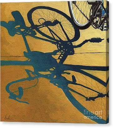 Golden Shadows - Wheels Canvas Print by Linda Apple