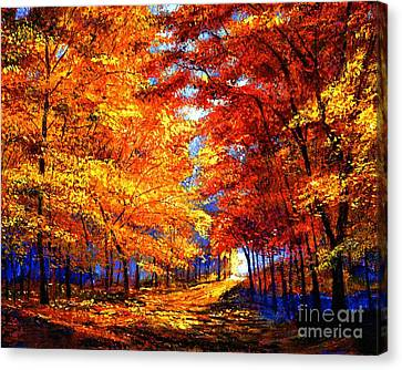 Golden Sunlight Canvas Print by David Lloyd Glover