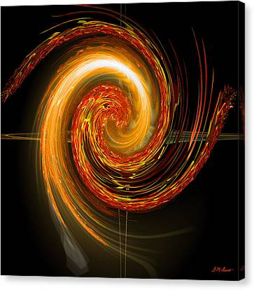 Golden Swirl Canvas Print by Michael Durst