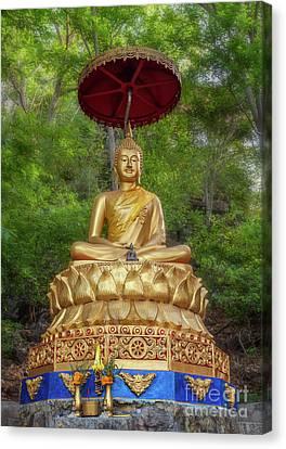 Golden Thai Buddha Canvas Print by Adrian Evans