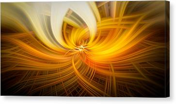 Golden Twirls Canvas Print by Noah Katz