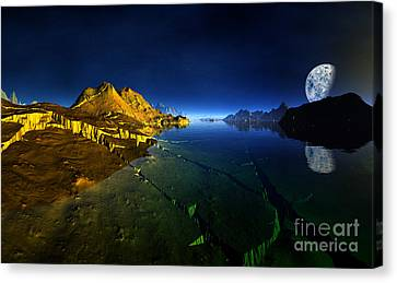 Golden Valley Planet 3 Canvas Print by Heinz G Mielke