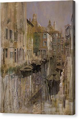 Golden Venice Canvas Print by Guido Borelli