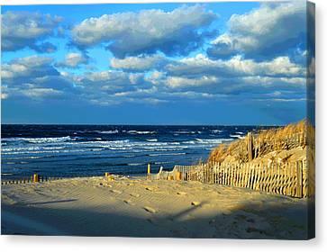 Golden Winter Light Over Cape Cod Bay Canvas Print by Dianne Cowen