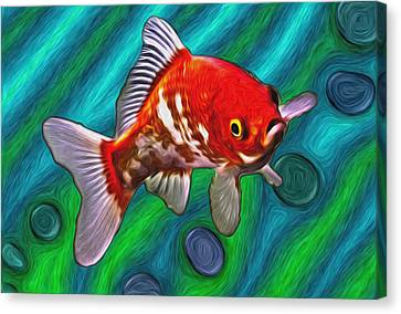 Goldfish Canvas Print by Eastern Sierra Gallery