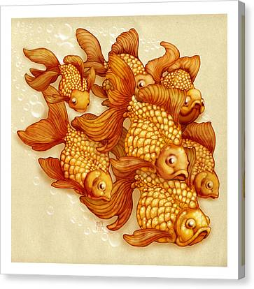 Goldfish On The Go Canvas Print by Catherine Noel