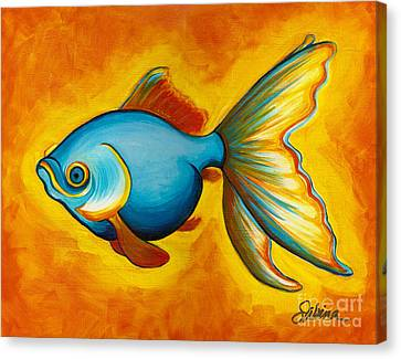 Goldfish Canvas Print by Sabina Espinet