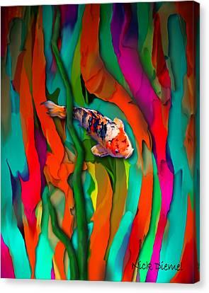 Goldfish World Canvas Print by Nick Diemel