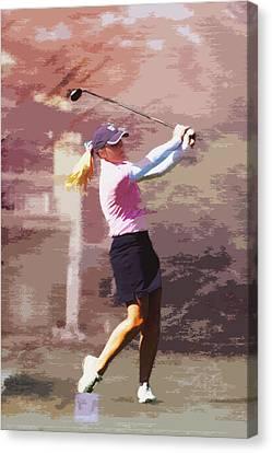 Golfer Canvas Print by David Haskett