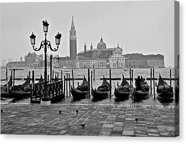 Gondolas Of San Marco Square Canvas Print by Frozen in Time Fine Art Photography