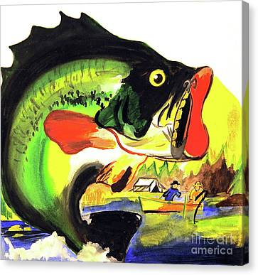 Gone Fishing Canvas Print by Linda Simon