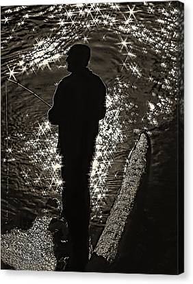 Gone Fishing - Sepia Canvas Print by Steve Harrington