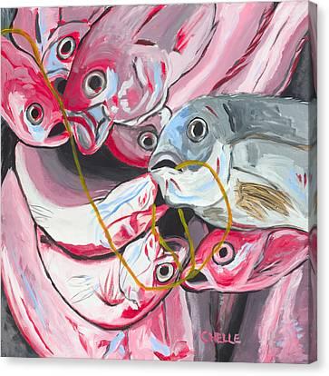 Good Catch Canvas Print by Chelle Fazal