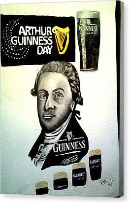 Good Day For A Guinness Canvas Print by Pauline Murphy