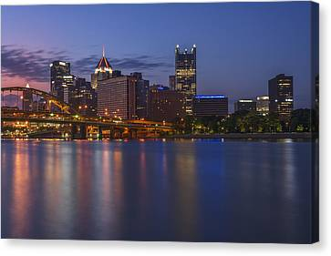 Good Morning Pittsburgh Canvas Print by Rick Berk