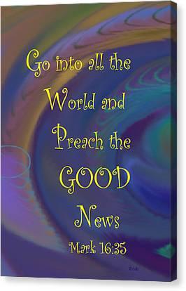 Good News Canvas Print by Trish Jenkins