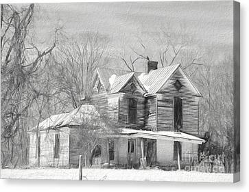 Good Place For A Ghost 2 Canvas Print by Benanne Stiens